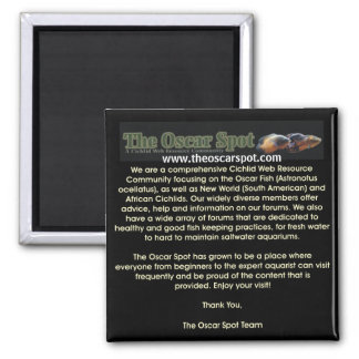 About The Oscar Spot 2 Inch Square Magnet