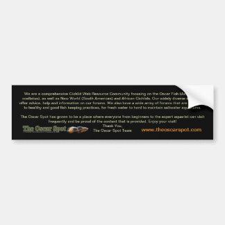 About The Oscar Spot Bumper Sticker