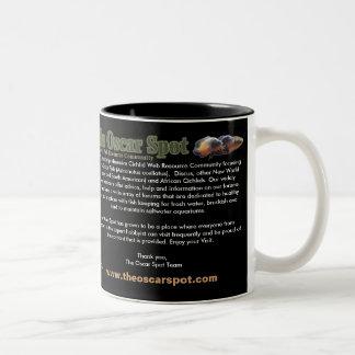 About The Oscar Spot Two-Tone Coffee Mug