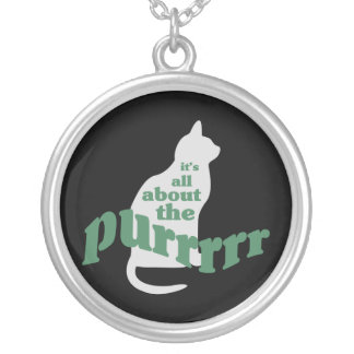 About the Purr Silver Plated Necklace
