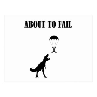 About to Fail Postcard