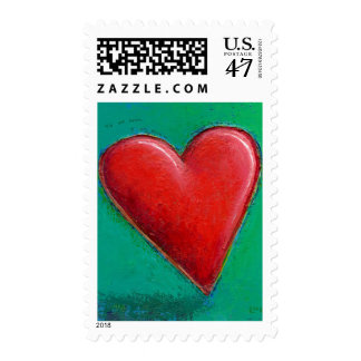 About to Fall - Beautiful ripe heart romantic ART Postage