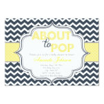 About to Pop Chic Chevron Baby Shower Invitation