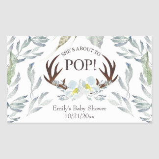 About to Pop Deer Antler Mini Champagne Label