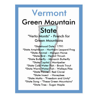 About Vermont Postcard