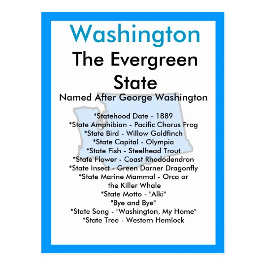 About Washington Postcard