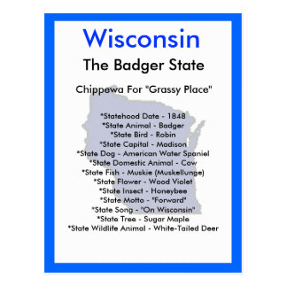 About Wisconsin Postcard
