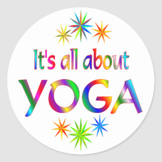 About Yoga Classic Round Sticker
