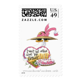 About Your Birthday - Postage Stamp