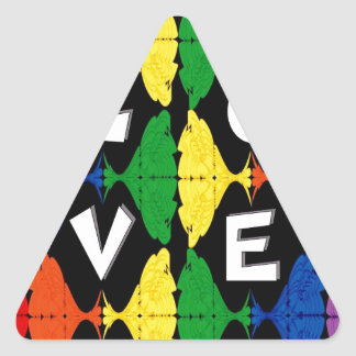 Above All Things Triangle Sticker