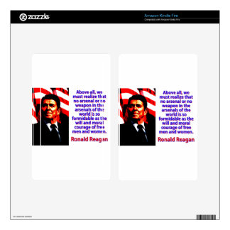 Above All We Must Realize - Ronald Reagan Kindle Fire Decal