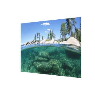 Above and below Lake Tahoe Canvas Print