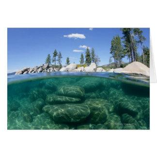 Above and below Lake Tahoe Greeting Card