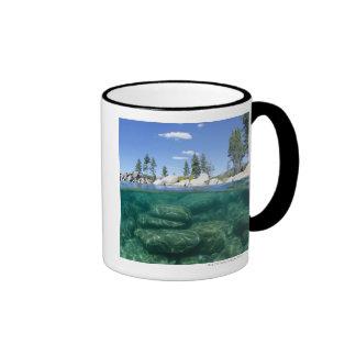 Above and below Lake Tahoe Ringer Coffee Mug