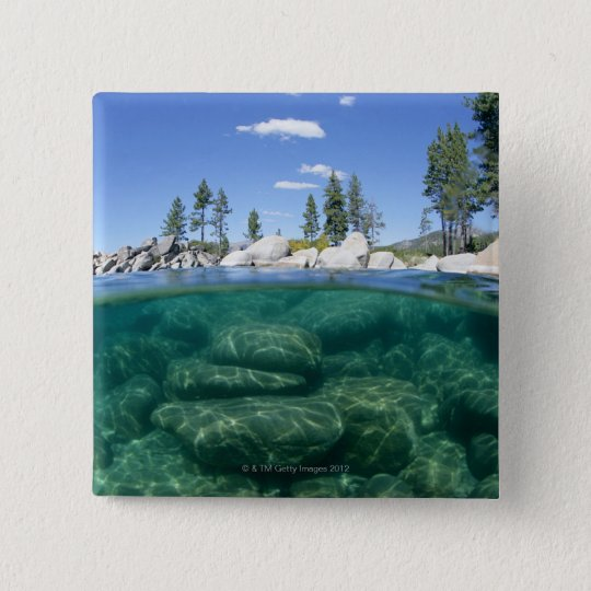 Above and below Lake Tahoe Pinback Button