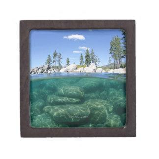 Above and below Lake Tahoe Premium Trinket Boxes