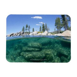 Above and below Lake Tahoe Rectangular Photo Magnet