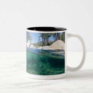 Above and below Lake Tahoe Two-Tone Coffee Mug
