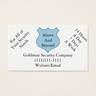 Above and Beyond Security Company Business Cards