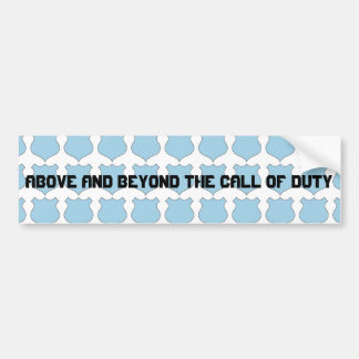 Above and Beyond the Call of Duty Badge Bumper Sticker