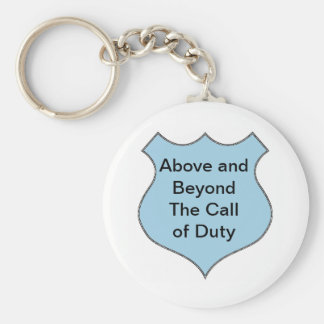 Above and Beyond the Call of Duty Badge Keychain