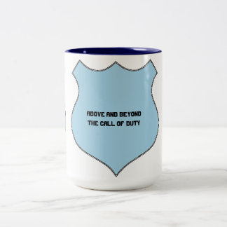 Above and Beyond the Call of Duty Badge Two-Tone Coffee Mug