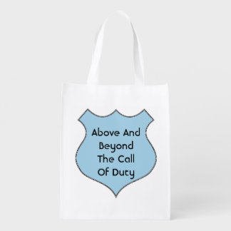 Above And Beyond The Call of Duty Grocery Bag