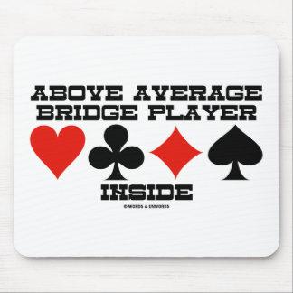 Above Average Bridge Player Inside (Bridge Humor) Mouse Pad