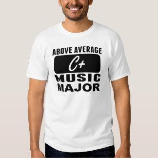 Above Average Music Major T-shirt