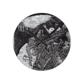 Above & Below by Brian Benson Round Clock