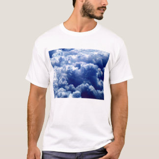 Above Bright Blue&White Clouds by KLM T-Shirt