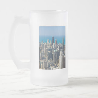 Above Chicago Frosted Glass Beer Mug