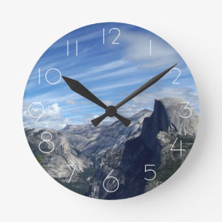 Above Half Dome Round Clock