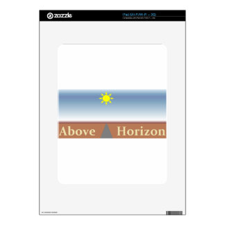 Above Horizon Decal For The iPad