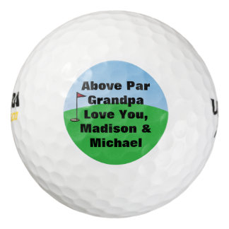 Above Par Personalized Custom Golf Balls