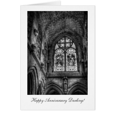 Above The Chapel Altar - Happy Anniversay Darling Card