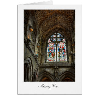 Above The Chapel Altar - Missing You Card