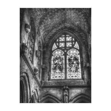 Above The Chapel Altar, Stained Glass Window Stretched Canvas Prints