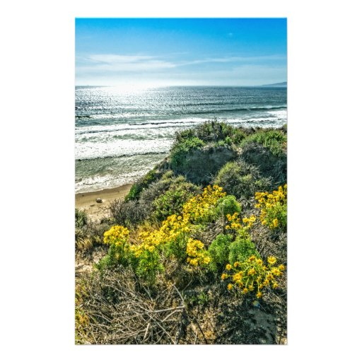 Above the Cliffs at Jalama Beach Stationery Design