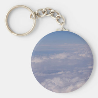 above the clouds 1 basic round button keychain