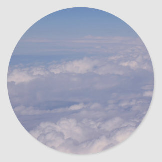 above the clouds 1 classic round sticker