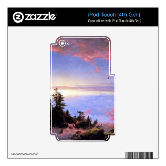 Above the clouds at sunrise by Frederick  Church iPod Touch 4G Skins
