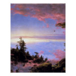 Above the clouds at sunrise by Frederick  Church Print
