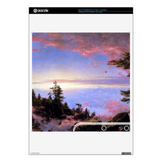 Above the clouds at sunrise by Frederick  Church Decal For PS3 Slim
