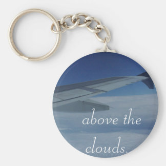 Above the Clouds Basic Round Button Keychain