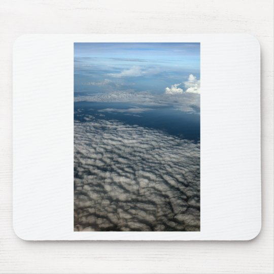 Above the clouds blue sky mouse pad