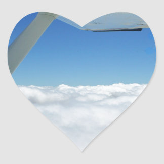 Above the clouds heart sticker