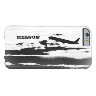 Above the Clouds/Jet Airplane Pilot Personalized Barely There iPhone 6 Case