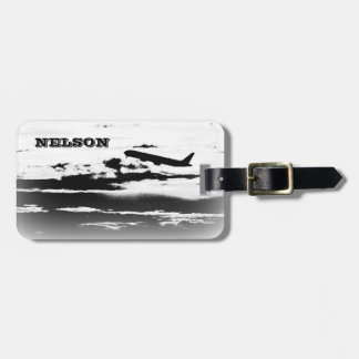 Above the Clouds/Jet Airplane Pilot Personalized Luggage Tag