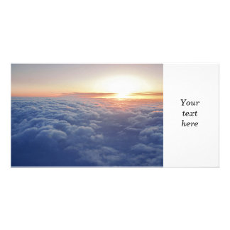 Above the clouds personalized photo card